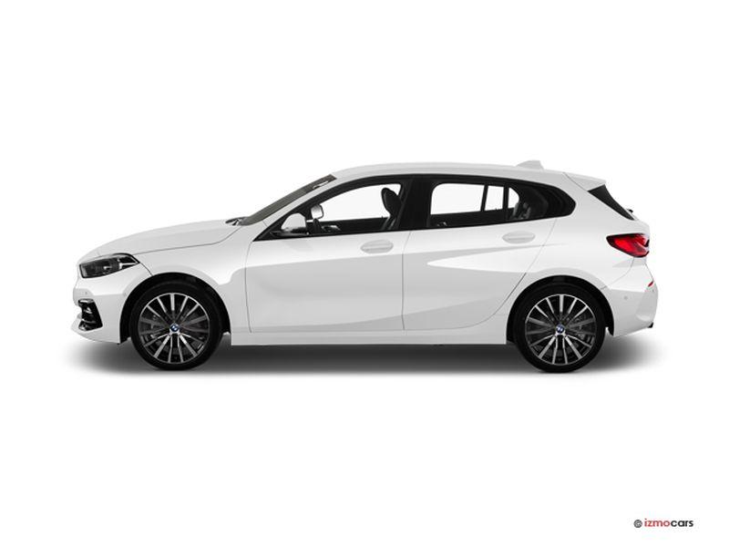 Photo de la BMW SERIE 1 M SPORT 116I 109 CH 5 PORTES à motorisation ESSENCE et boite MANUELLE de couleur BLANC - Photo 1