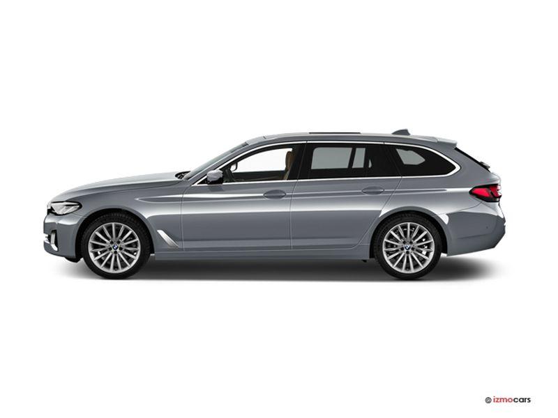 Photo de la BMW SERIE 5 TOURING M SPORT TOURING 520D TWINPOWER TURBO XDRIVE 190 CH BVA8 5 PORTES à motorisation DIESEL et boite AUTOMATIQUE de couleur BLEU - Photo 1