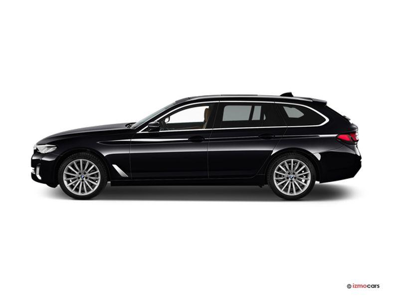Photo de la BMW SERIE 5 TOURING LOUNGE TOURING 530E TWINPOWER TURBO 292 CH BVA8 5 PORTES à motorisation HYBRIDE RECHARGEABLE et boite AUTOMATIQUE de couleur NOIR - Photo 1