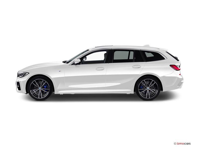 Photo de la BMW SERIE 3 TOURING M SPORT TOURING 330E XDRIVE 292 CH BVA8 5 PORTES à motorisation HYBRIDE RECHARGEABLE et boite AUTOMATIQUE de couleur BLANC - Photo 1