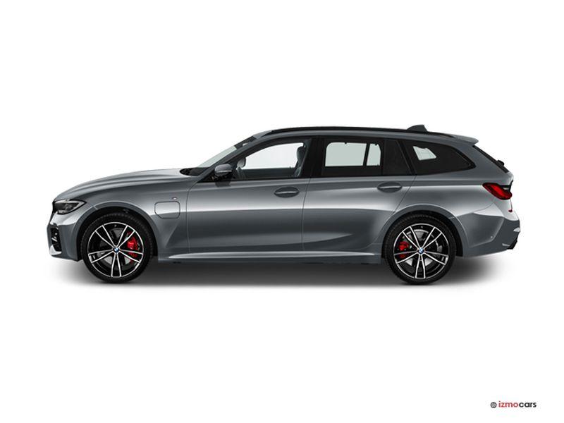 Photo de la BMW SERIE 3 TOURING LOUNGE TOURING 330E XDRIVE 292 CH BVA8 5 PORTES à motorisation HYBRIDE RECHARGEABLE et boite AUTOMATIQUE de couleur GRIS - Photo 1