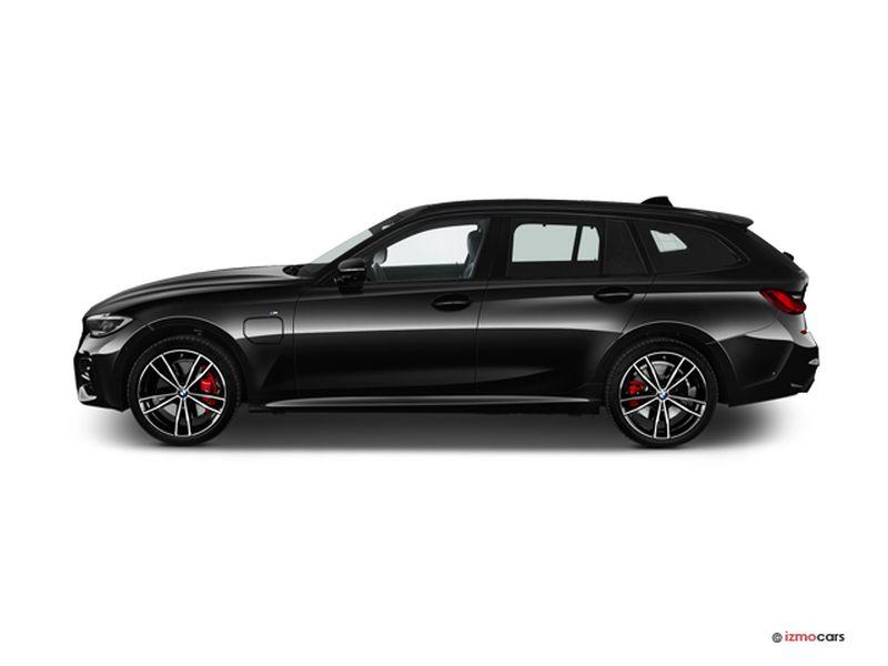 Photo de la BMW SERIE 3 TOURING LOUNGE TOURING 320E XDRIVE 204 CH BVA8 5 PORTES à motorisation HYBRIDE RECHARGEABLE et boite AUTOMATIQUE de couleur NOIR - Photo 1