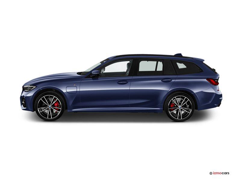 Photo de la BMW SERIE 3 TOURING LOUNGE TOURING 330E 292 CH BVA8 5 PORTES à motorisation HYBRIDE RECHARGEABLE et boite AUTOMATIQUE de couleur BLEU - Photo 1