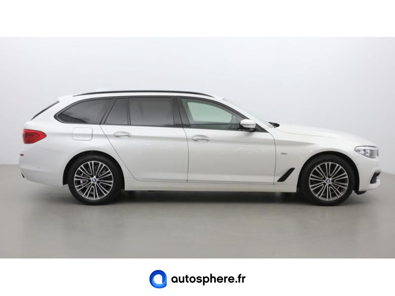 BMW SERIE 5 TOURING 520DA XDRIVE 190CH SPORT STEPTRONIC - Miniature 4