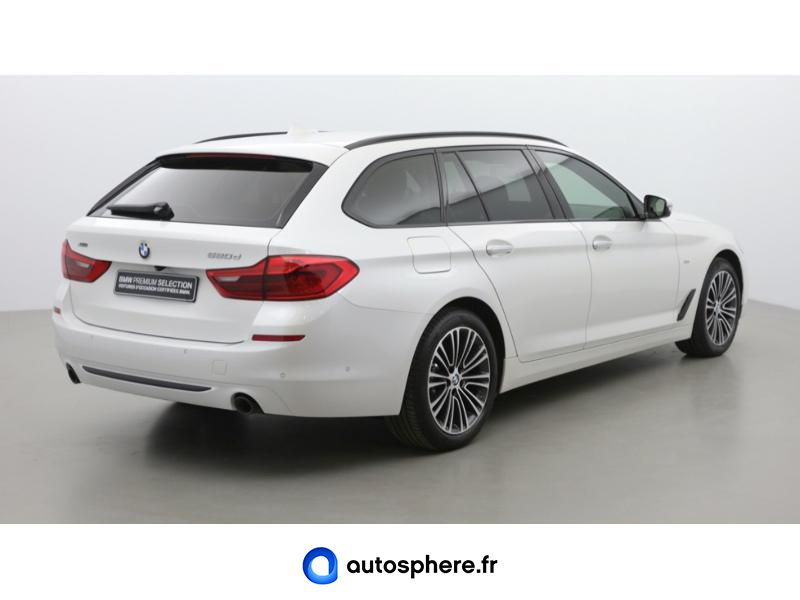 BMW SERIE 5 TOURING 520DA XDRIVE 190CH SPORT STEPTRONIC - Miniature 5