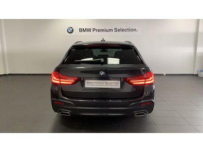 BMW SERIE 5 TOURING 520DA 190CH M SPORT STEPTRONIC - Miniature 4