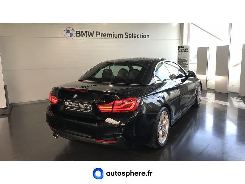 BMW SERIE 4 CABRIOLET 420DA 190CH M SPORT EURO6C - Miniature 2