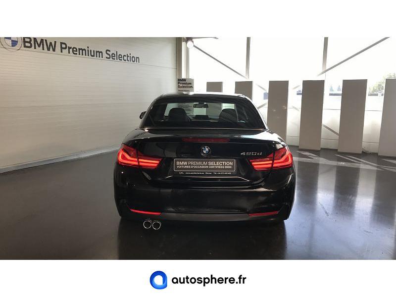BMW SERIE 4 CABRIOLET 420DA 190CH M SPORT EURO6C - Miniature 4