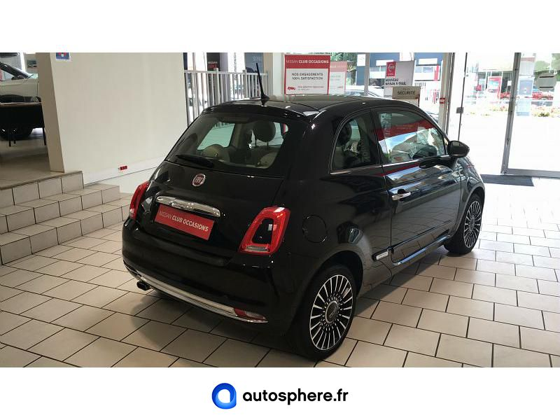 FIAT 500 1.2 8V 69CH LOUNGE - Miniature 2