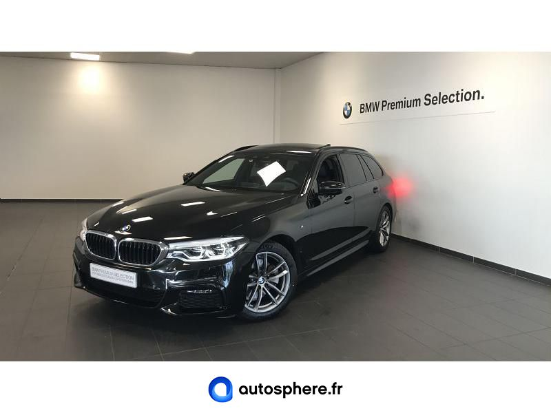 BMW SERIE 5 TOURING 520DA 190CH M SPORT STEPTRONIC - Miniature 1
