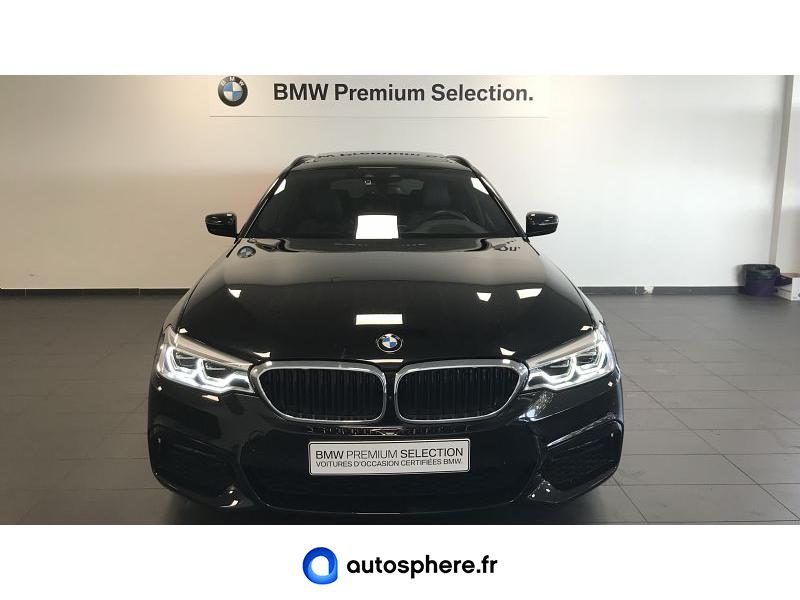 BMW SERIE 5 TOURING 520DA 190CH M SPORT STEPTRONIC - Miniature 5