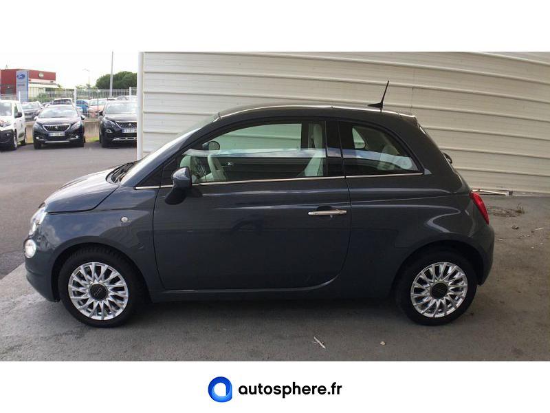FIAT 500 1.2 8V 69CH ECO PACK LOUNGE EURO6D - Miniature 3