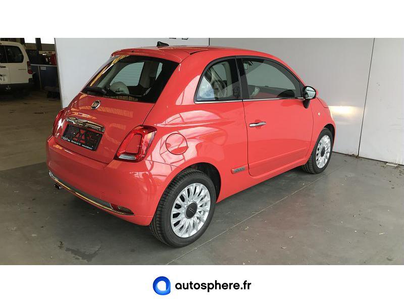 FIAT 500 1.2 8V 69CH ECO PACK LOUNGE EURO6D - Miniature 2