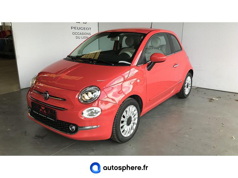 FIAT 500 1.2 8V 69CH ECO PACK LOUNGE EURO6D - Miniature 1